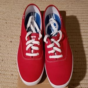 Keds Red Canvas Sneakers - Never Worn